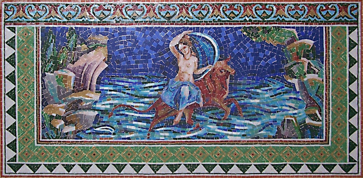 The Abduction of Europa - Mosaic Art