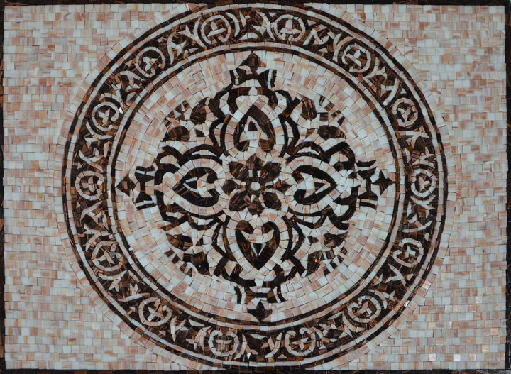 Mosaic Artwork - Royal Flower