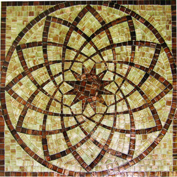 Geometric Flower Mosaic Art