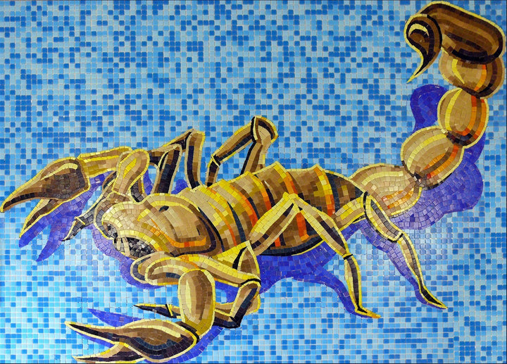 Scorpion Glass Mosaic