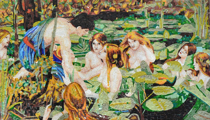 "Waterhouse Hylas and The Nymphs"" - Mosaic Reproduction """