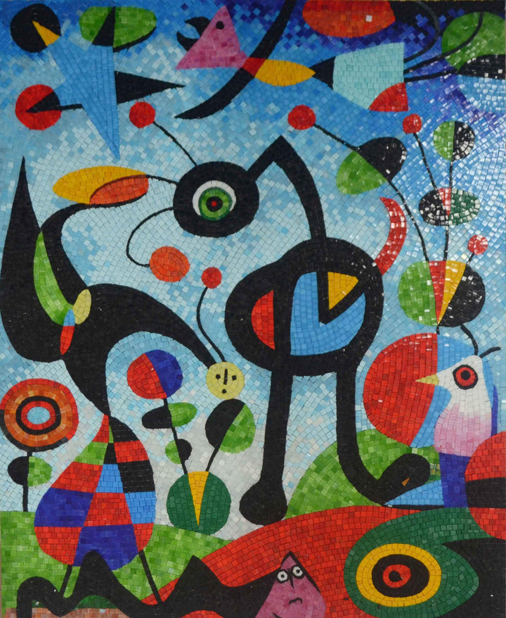 "Joan Miro's ""The Garden"" - Mosaic Reproduction"