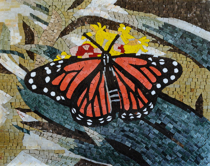 Mosaic Wall Art - Butterfly