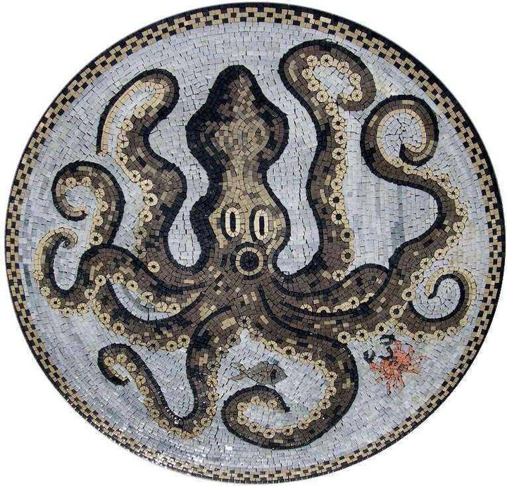 Octopus Marble Mosaic