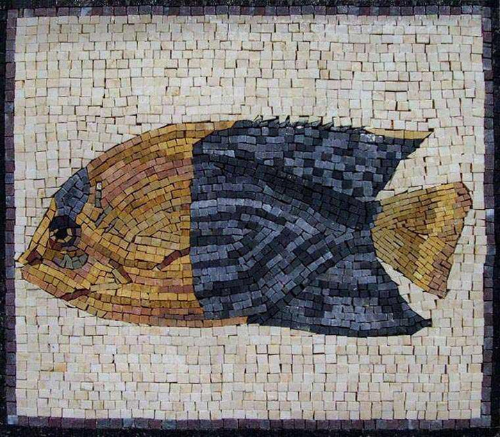 Yellow and Blue Fish Mosaic
