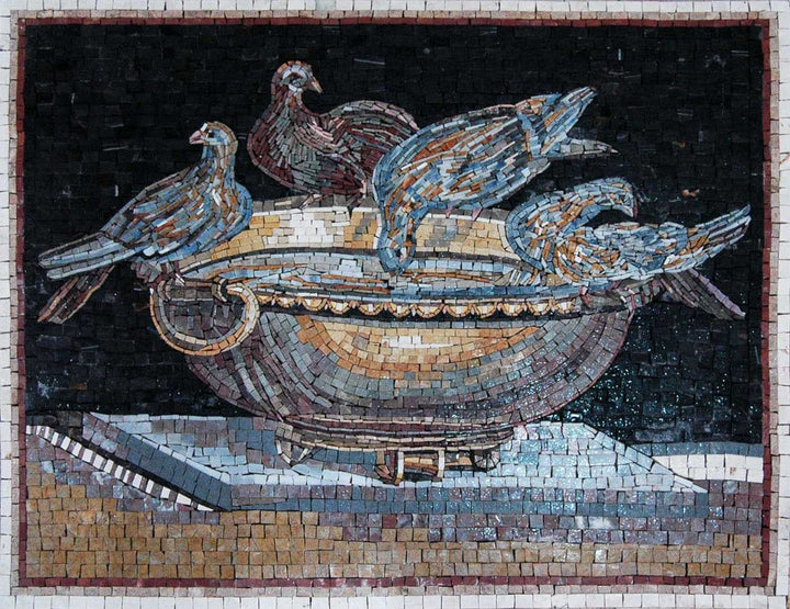 Mosaic Art reproduction- Birds