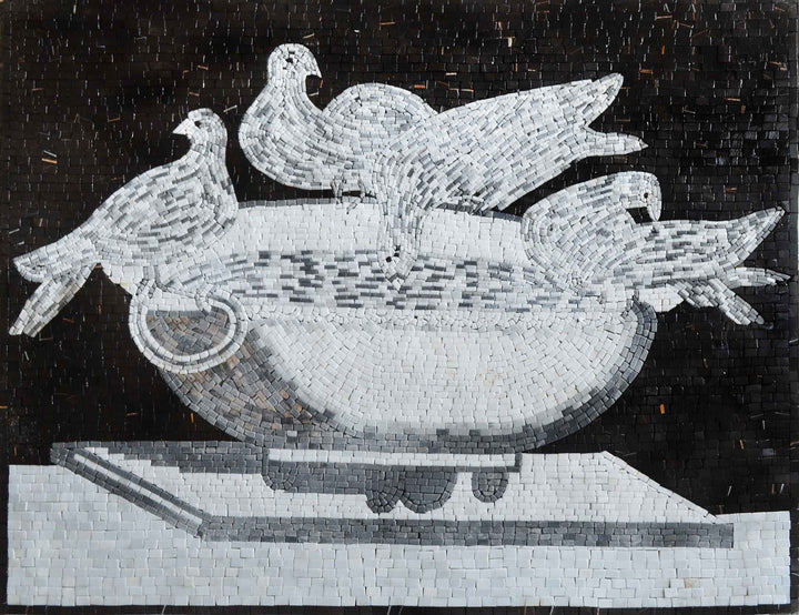 Mosaic Wall Art- Bird Bath