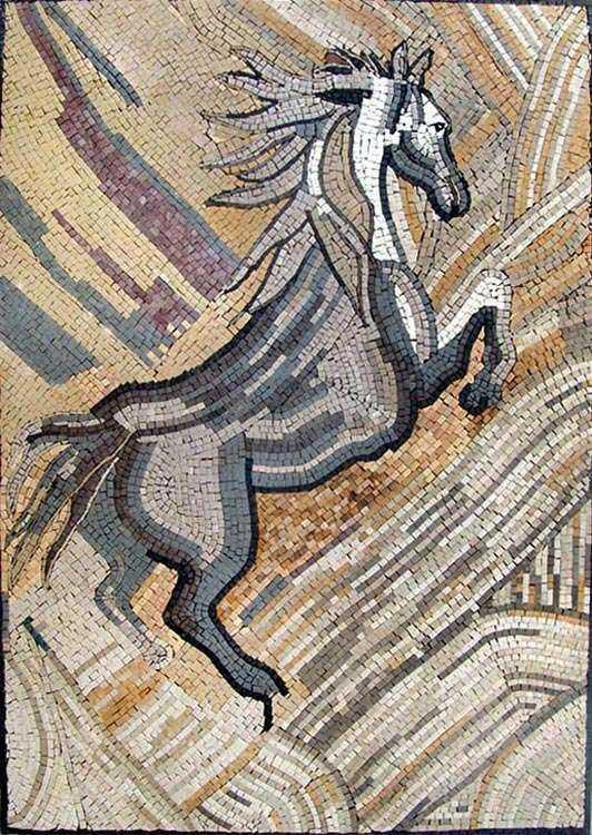 Mosaic Mural Art - Galloping Horse