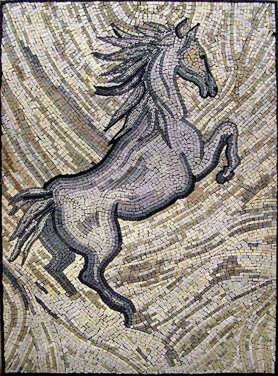 Mosaic Artwork - Light Horse
