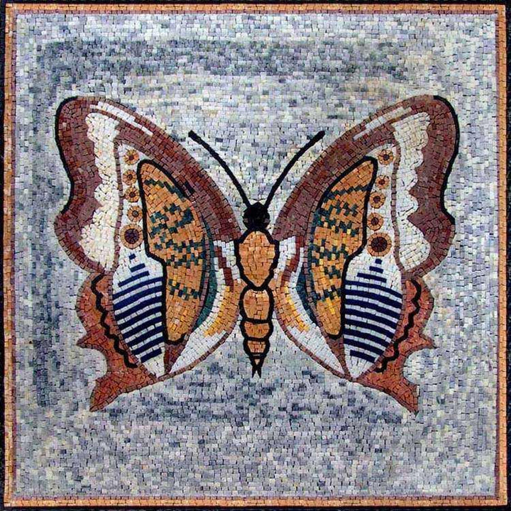 Marble Mosaic Artwork - Butterfly