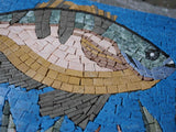 A Fish At The Bottom - Mosaic Wall Art