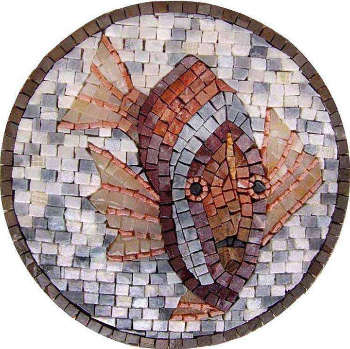 Fish Medallion Mosaic