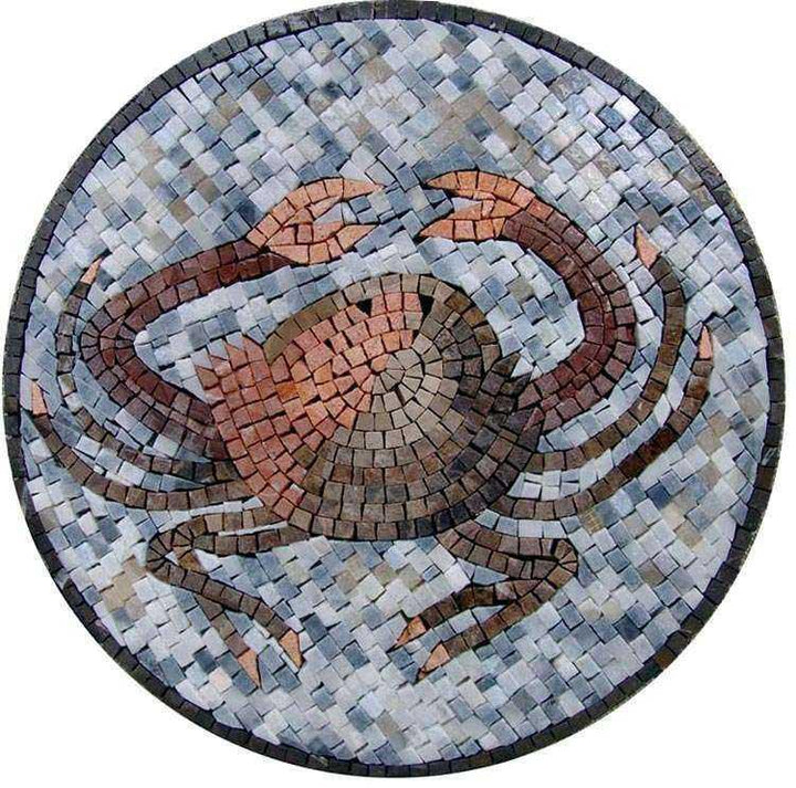 Crab Mosaic Art