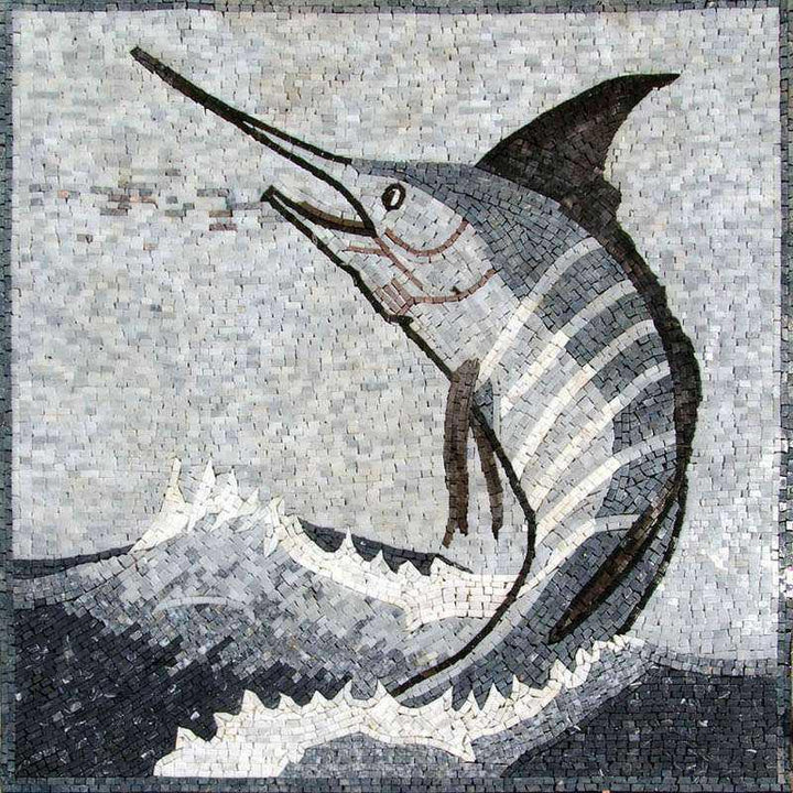 Sword Fish Mosaic