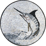 Gray Sword Fish Mosaic