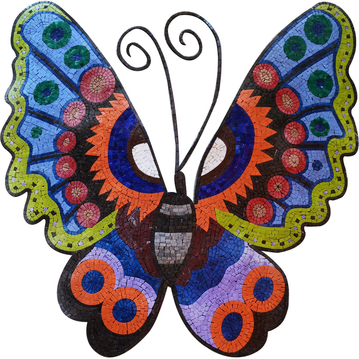 Mosaic Artwork - Colorful Butterfly