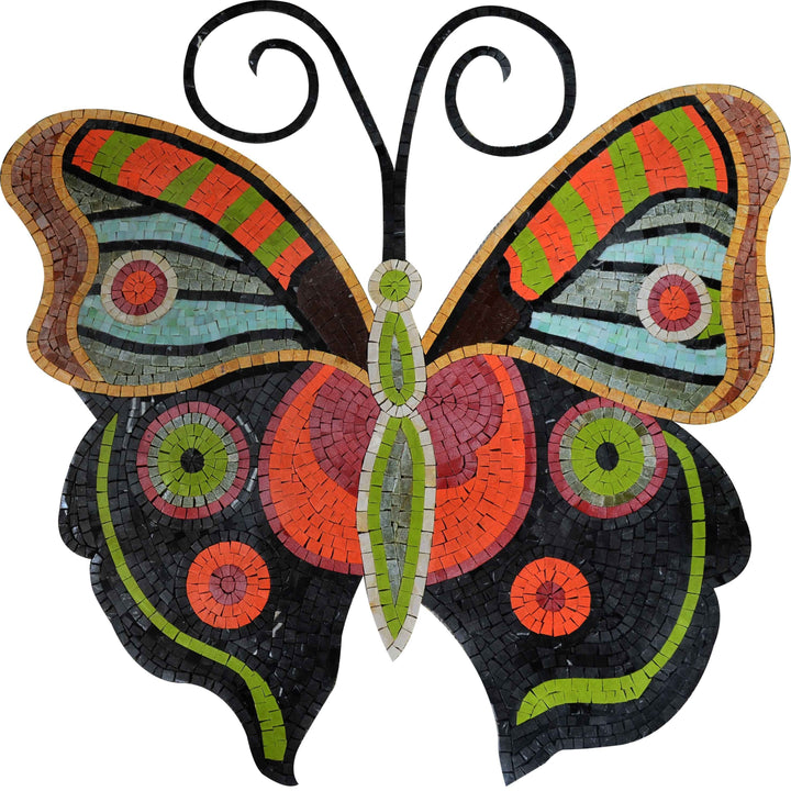 Mosaic Wall Art - Colorful Butterfly