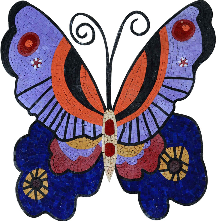 Mosaic Designs - Artistic Colorful Butterfly