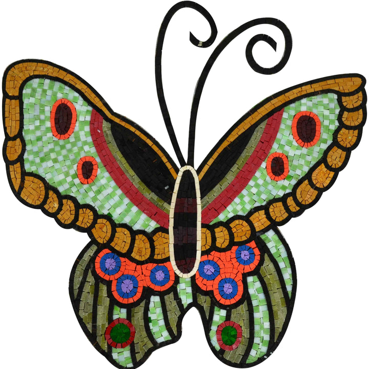 Mosaic Design - Colorful Butterfly