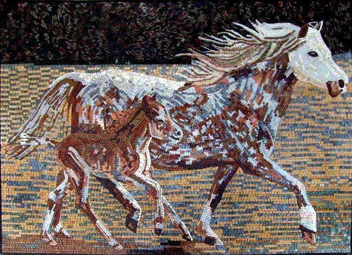 Mosaic Designs - Colorful Horses