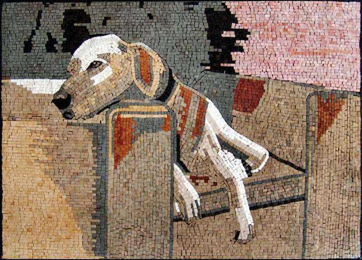Animal Mosaic Artwork - Labrador
