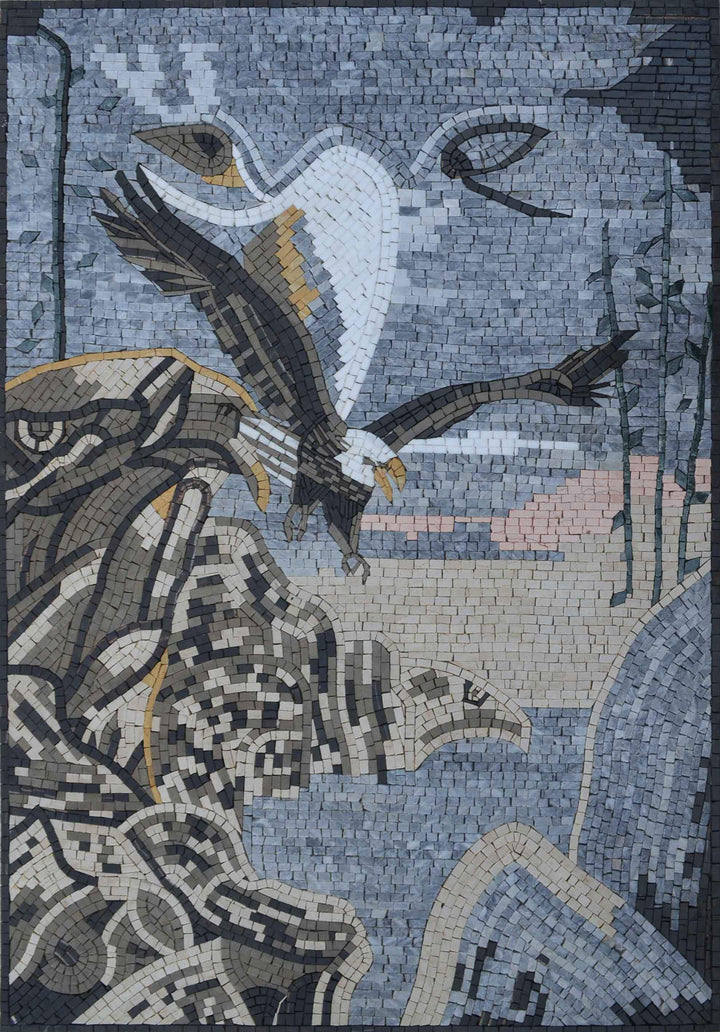 Mosaic Mural - The Eagle