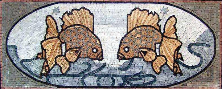 Fish Marble Mosaic Illustration