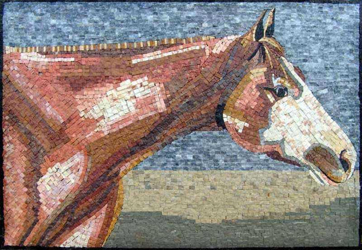 Mosaic Animal Art -Seal Brown Horse
