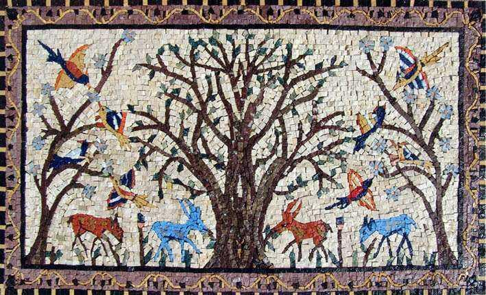 African Mosaic Art - Tree of Life