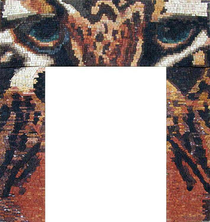 Mosaic Art - Fireplace Tiger