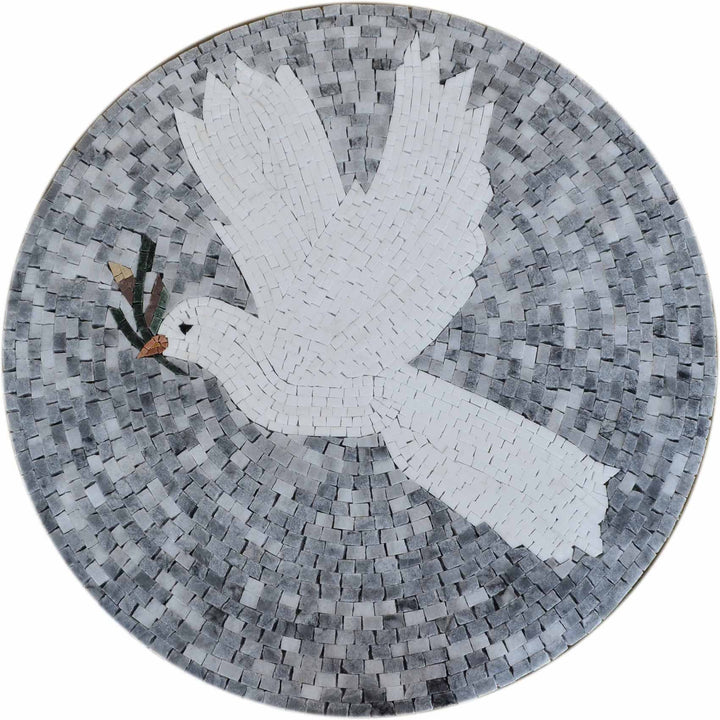 Mosaic Medallion - Dove of Peace