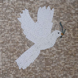 Marble Mosaic -The White Dove