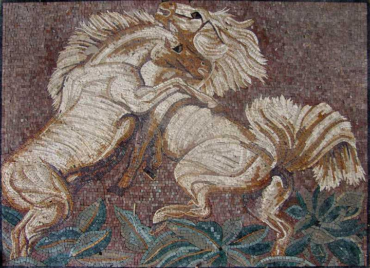 Mosaic Artwork - Orgasmic Horses