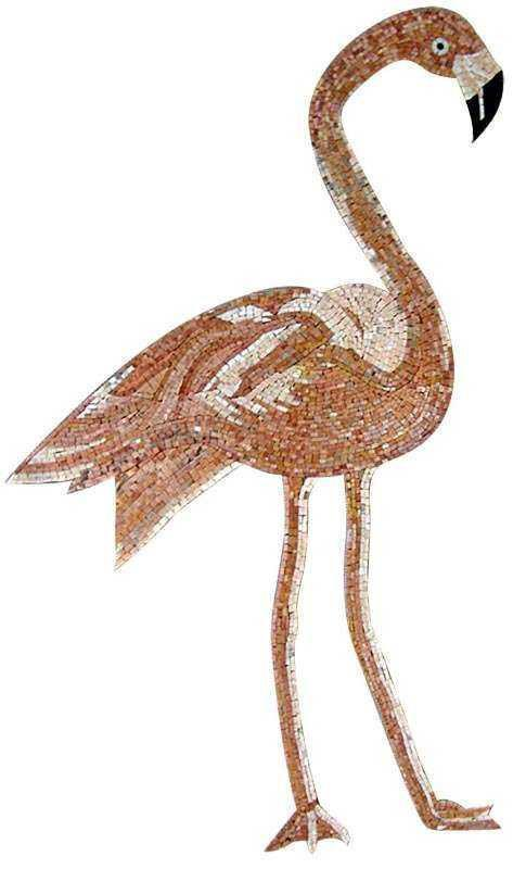 Animal Mosaic Art - Flamingo