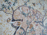 Mosaic Art - Blooming Tree and Birds II