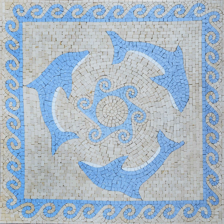 Mosaic Accent - Dolphins Trio