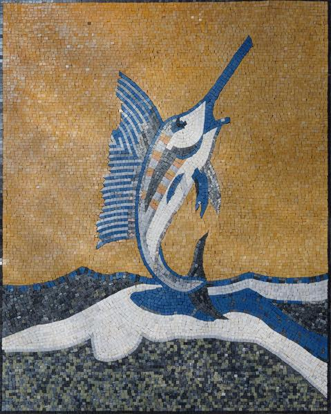Sword Fish Mosaic Art