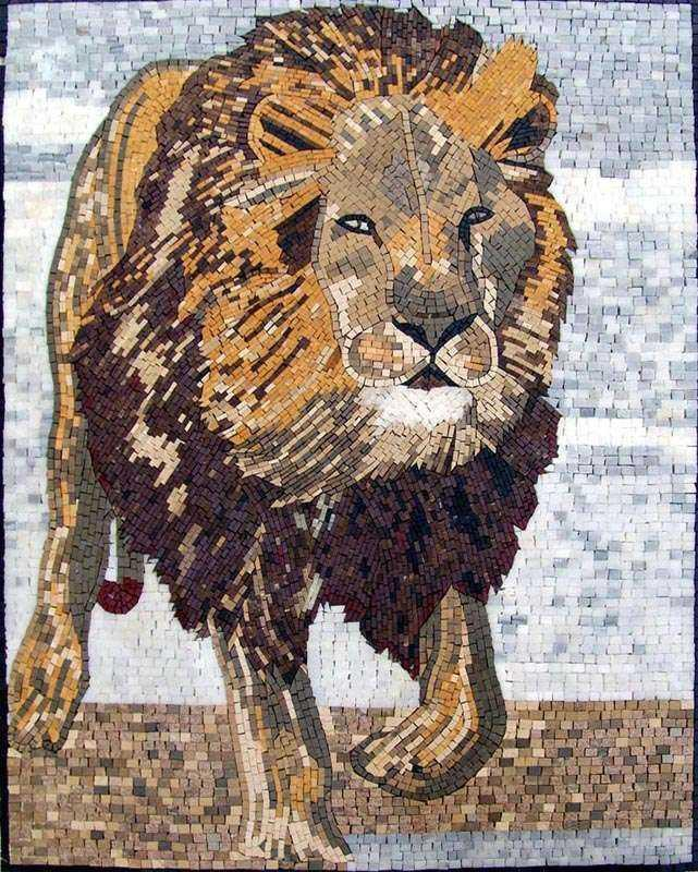 Marble Mosaic Art - Lion King