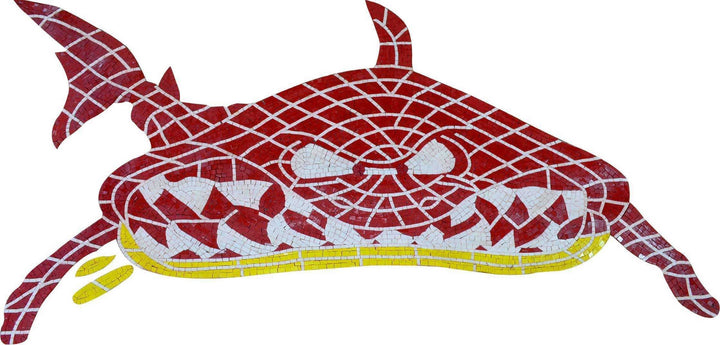 Red Shark Marble Mosaic