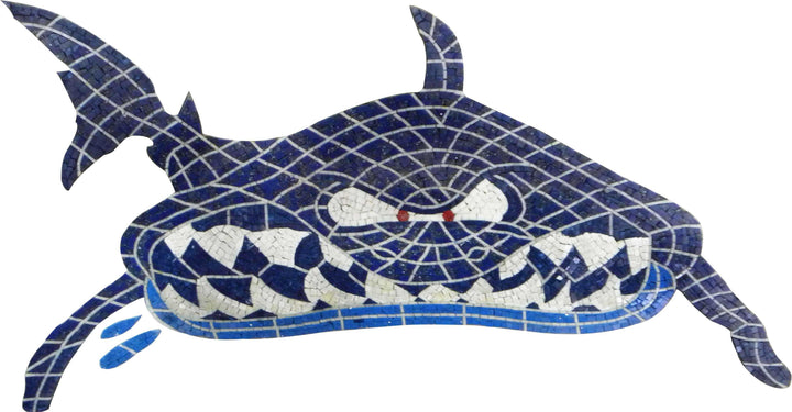 Shark Marble Mosaic Pool Bathroom