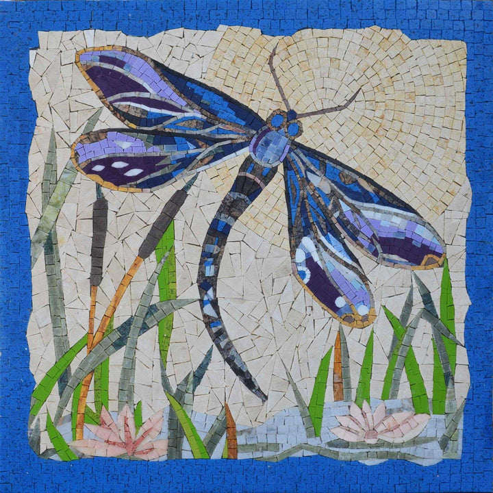 Mosaic Art - Tropical Dragonfly