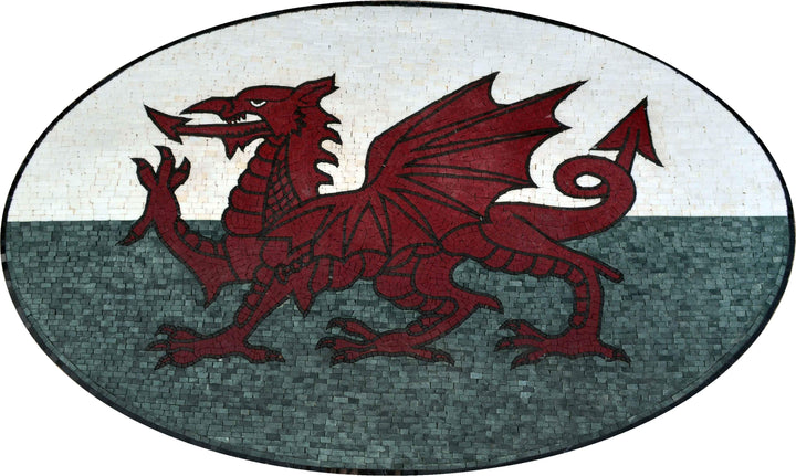 Mosaic Mural - Flag of Wales