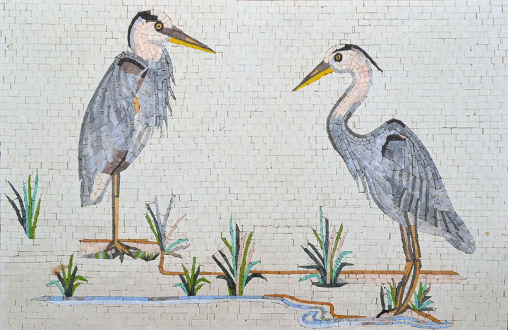 Mosaic Mural - Pelicans Of Illinois