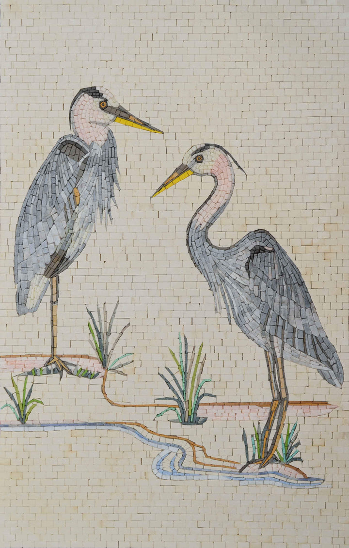 Mosaic Art - The Pelicans of Illinois