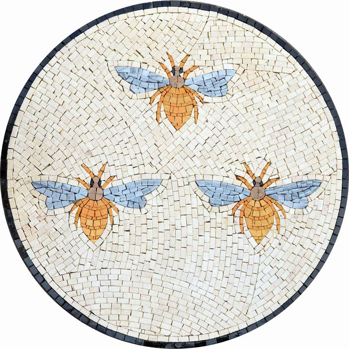 Mosaic Medallions - The bees Gradient