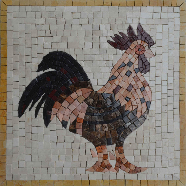 Black Tail Rooster - Mosaic Art