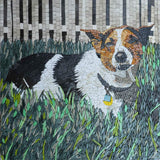 Custom Dog Mosaic Art