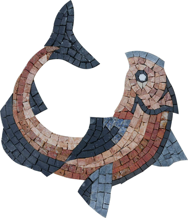 Swimming Fish III Mosaic Design