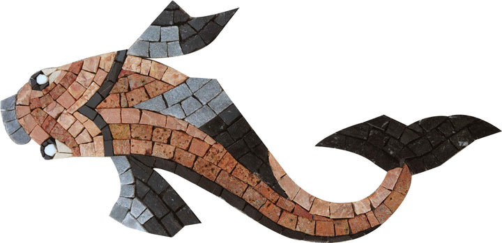 Swimming Fish Mosaic Design