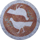 Birds Mosaic Medallion